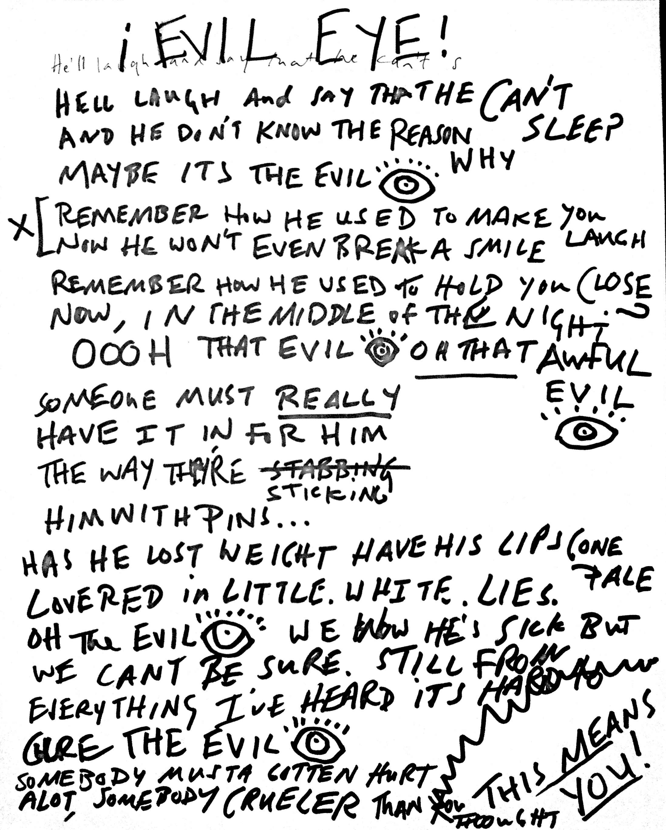 02 Evil Eye Lyrics
