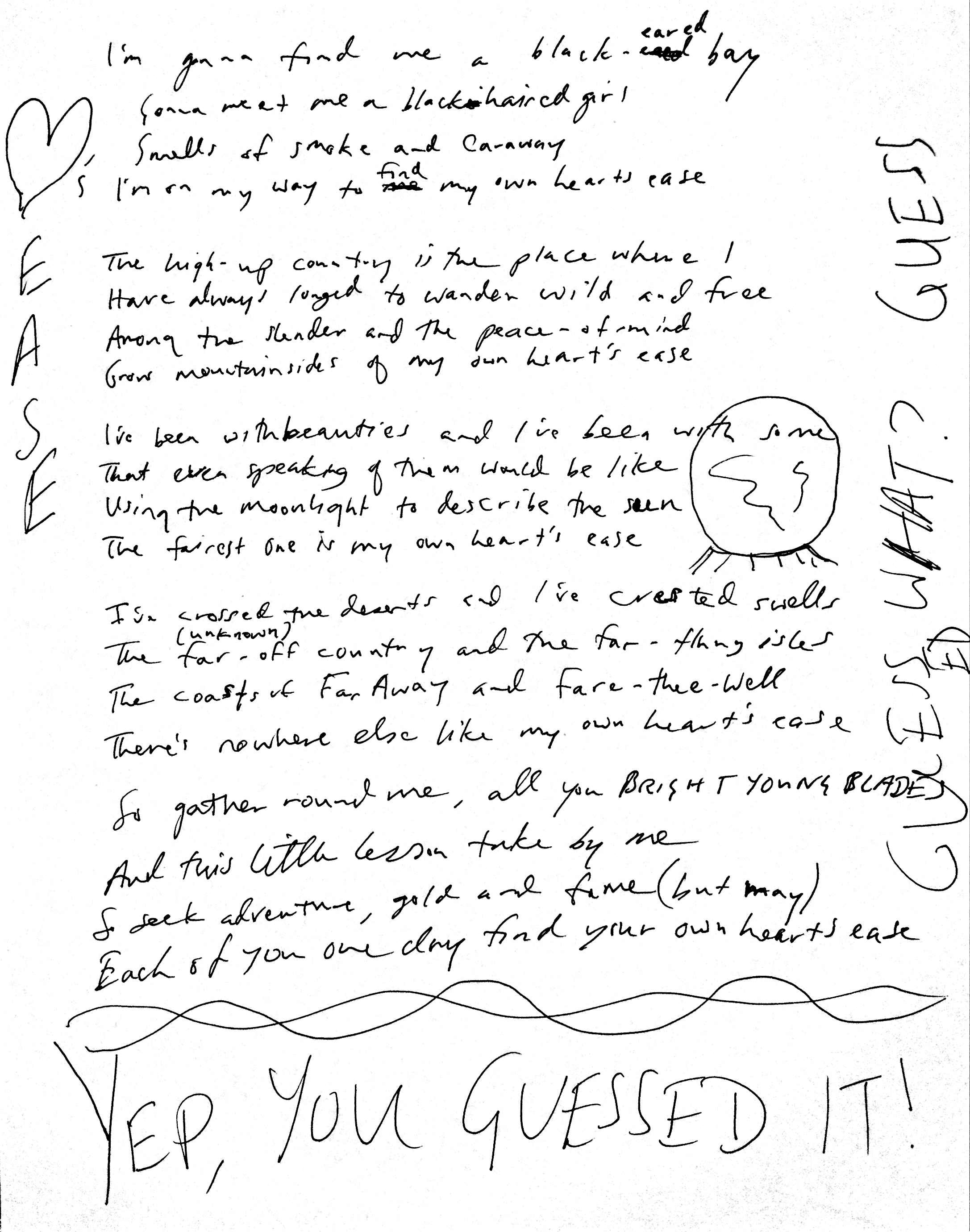 07 Heart's Ease Lyrics