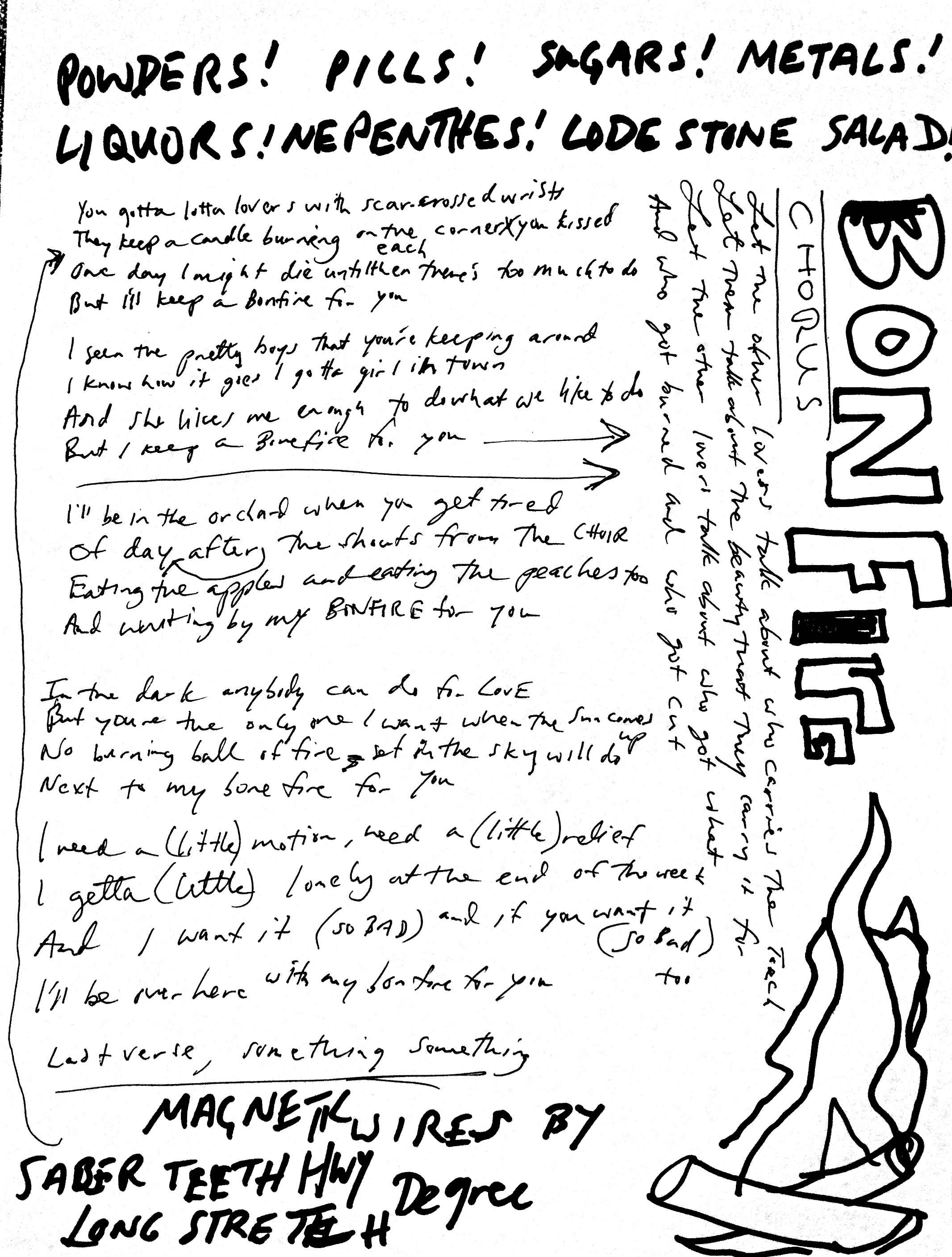 10 Bonfire Lyrics