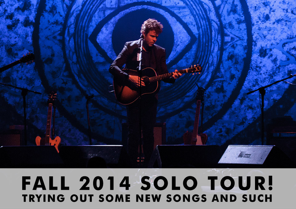 Josh Ritter Fall 2014 Tour Dates