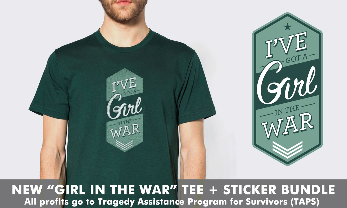 Josh Ritter Girl in the War shirt for charity